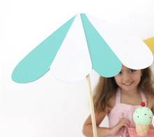 Ice cream cart umbrella